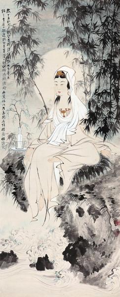 北京保利八周年秋拍丨张大千《水月观音》