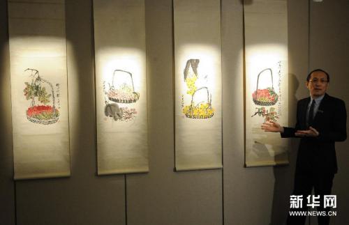 齐白石、张大千和徐悲鸿等画作将亮相香港苏富比春季拍卖 图