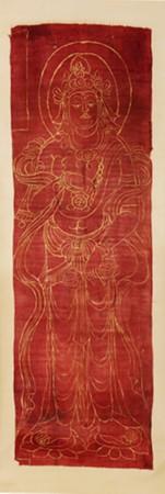 敦煌遗珍:张大千带出来的五代绢本菩萨像