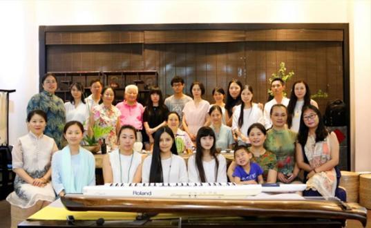 荷月瑶琴音,大风堂琴社七月古琴雅集在苏州燕如初茶空间顺利举行