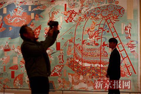 张大千艺术展亮相国博《华山云海图》、敦煌临摹壁画等作品展出