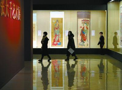 """《张大千艺术展》在国家博物馆开幕 百余幅画作展现""""大千世界"""""""