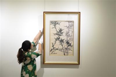 离别近60年张大千《双清图》在成都首次曝光