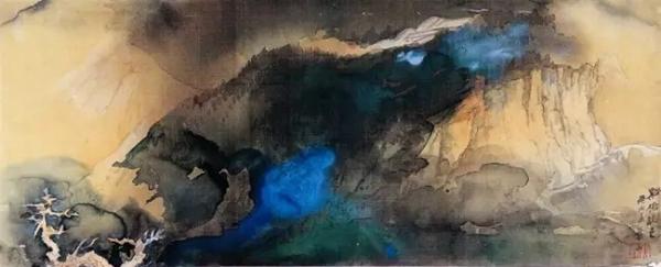 张大千泼彩山水画与色彩表现的四种类型