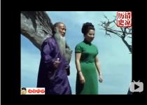1967年,国画大师张大千,在加州作画视频,全程漂亮夫人陪伴