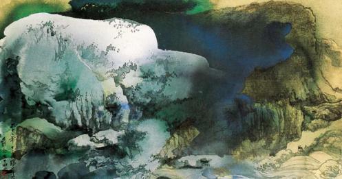 刘德龙 虞昊:张大千晚年身体状态与泼墨泼彩画风演变