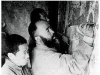 张大千临摹敦煌壁画:师古人之迹,先师古人之心