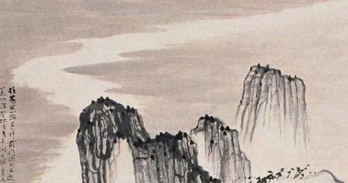 张大千模仿石涛山水画,作品细腻笔法堪称一绝,看不出是真是假